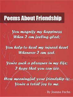 English poem in on friendship Friendship Poems
