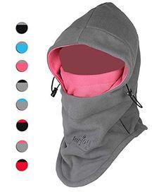 ca38757b578 Purjoy Multipurpose Use 6 in 1 Thermal Warm Fleece Balaclava Hood Police  SWAT Ski Bike Wind Stopper Full Face Mask Hats Neck Warmer Outdoor Winter  Sports ...
