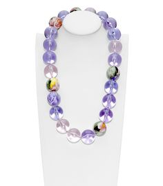 FLorian  Purple Swirl Bead Necklace  $315.00