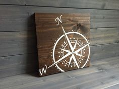Pick colors Compass Wood Sign Stained and Hand Painted Home decor adventure sign Adventure art Travel decor Nautical decor - Travel Canvas Wall Art - Ideas of Travel Canvas Wall Art Lake Decor, Coastal Decor, Compass Art, Compass Design, Compass Tattoo, Nautical Home, Nautical Interior, Nautical Style, Travel Wall