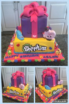 Shopkins birthday cake season 4, 1,2,3
