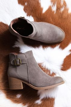 Philly Ankle Boot, Grey - The Loft Boutique - Shoes  - 4