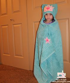 Piece N Quilt: Children's Hooded Towel ~ A free tutorial