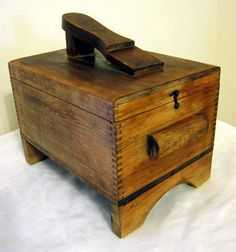 Vintage Hand Made Shoe Shine Box Dovetail W Some Contents Walther Horsehair…