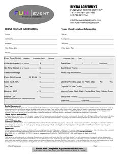 party planner contract template - Google Search   Event Planner ...