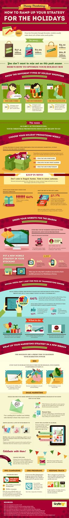 How To Ramp Up Your Strategy For the Holidays #infographic #Marketing #HowTo #infografía