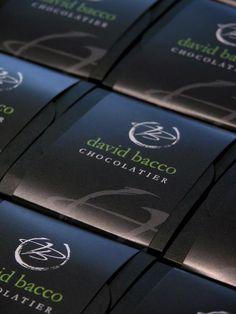 KMG branding and packaging of David Bacco Chocolatier's chocolates.