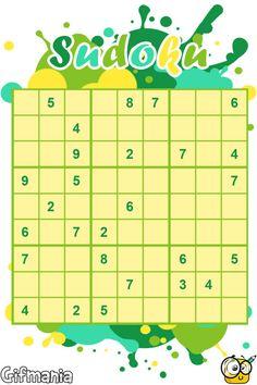 Sudoku Fácil #sudoku #pasatiempos #gifmania