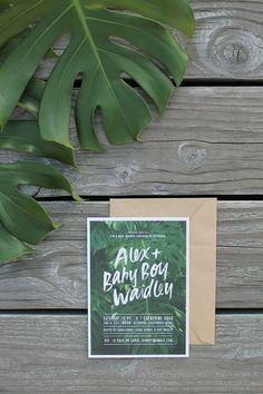 Work | Hawaii Inspired Baby Shower Invitations