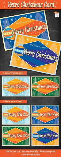 Retro Cristmas Cards