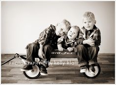 Love this photos of boys in the wagon!