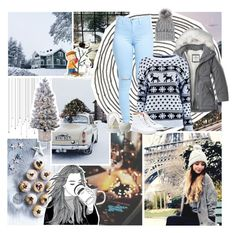 """Snow day"" by andyrosexxx ❤ liked on Polyvore featuring Ultimate, Department 56, Parlane, Lands' End, Abercrombie & Fitch, Boohoo, Vans and Eugenia Kim"