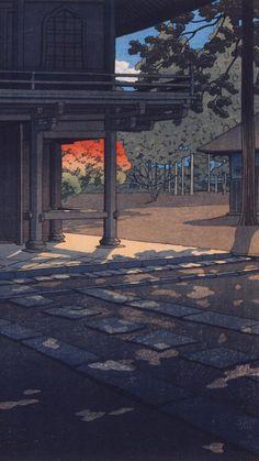 Japanese Art Prints, Japanese Art Modern, Japanese Artwork, Japanese Aesthetic, Japanese Painting, Aesthetic Art, Aesthetic Pictures, Aesthetic Anime, Anime Scenery Wallpaper