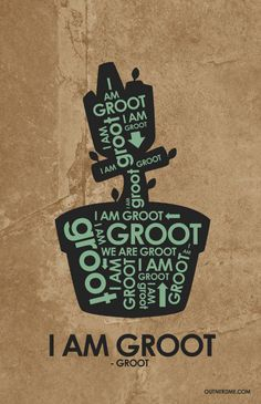 Groot Quote Poster by OutNerdMe on Etsy