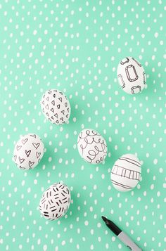 DIY Easter Egg Sharpie Doodles