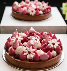 Made by the amazing chef that has the best pastry and bistro in town Tart Recipes, Sweet Recipes, Baking Recipes, Dessert Recipes, Fancy Desserts, Delicious Desserts, Do It Yourself Food, Decoration Patisserie, Raspberry Tarts