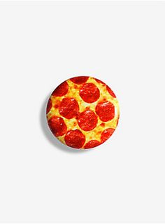 "<p>It's no surprise that pizza is the most important food group. (Yes, more important than vegetables. Yes, your mom lied to you all those years.) So, why not become a champion for healthy eating by sporting this tasty-looking pepperoni pizza pinback? Perfect for pizza lovers of all types — even those who insist anchovies make the best pizza topping. Definitely good enough to eat, but definitely not edible. Don't even try.</p>  <ul> 	<li>1 1/2"" diameter</li> 	<li>Import"