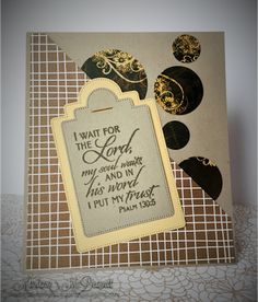 Handmade card by Marlena M. using the New Mercies stamp set from Verve. #vervestamps #faithstamping