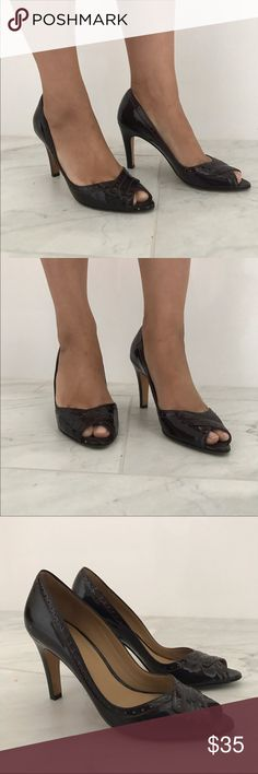 Faconnable patten leather pumps size 7 Faconnable patten leather pumps size 7. Oz blood color peep toe pumps. Perfect for work. 3.5 inch heels. Bundle and save 🎈😉👍 Facconable  Shoes Heels