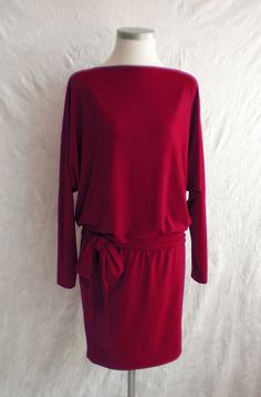Entdecke lässige und festliche Kleider: Lässiges Jerseykleid made by himandher via DaWanda.com