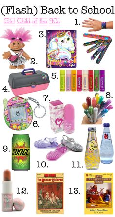 Presentable Blog - (Flash) Back to School: Child of the 90s. I could name every one and I have a significant memory for all but 2.
