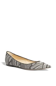 Jimmy Choo 'Alina' Pointy Toe Flat available at #Nordstrom
