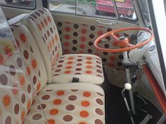Interior of said VW bus.  Smooth.
