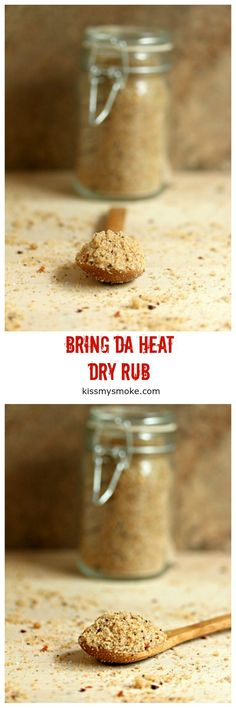 Bring da Heat Dry Rub is one of my favourite homemade bbq rubs. This easy DIY spice recipe can be used as aseasoning for pork, chicken, beef, fish and seafood.#grill #bbq #rub #bbqrub #dryrub #spice #seasoning I Grill, Grilling, Good Food, Yummy Food, Smoking Recipes, Homemade Bbq, Bbq Rub, Seasoning Mixes, Fish And Seafood