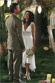 Susan  Mike Delfino's wedding- perfect dress, perfect ceremony.