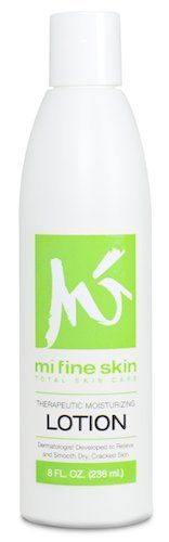 Mi Fine Skin- Theraputic Moisturizing Lotion 8oz by Mi Fine Skin. $12.49. Developed by a dermatologist to relieve and smooth dry, cracked skin.. Therapeutic Moisturizing Lotion. Designed primarily for the face and body, and can be used on the face to relieve dryness.