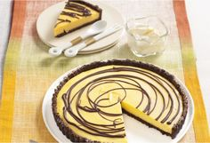 A sensational creamy and chocolaty tart. Serve a slice with tea or to finish off your meal.