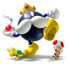 King Bob-omb, Toad, and Koopa Troopa - Mario Party 9