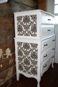 add color or decal to boring furniture to amp it up a little, thinking of doing this with my dresser!