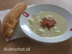 Zemiakovo - fazuľový prívarok Camembert Cheese, Oatmeal, Soup, Cooking Recipes, Pudding, Breakfast, Desserts, Russian Recipes, Polish