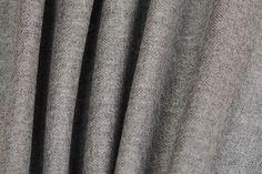 Heathered Smoke Grey Virgin Wool (Made in Italy)