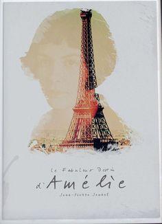 Amélie, Fine Art print, Jean-Pierre Jeunet, Audrey Tatou, giclee French movie poster, old classic cinema, Amelie
