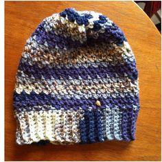 Beannie hat again. Beanie Hats, Knitted Hats, Cowls, Crete, Knitting, Handmade, Fashion, Crochet Rugs, Moda