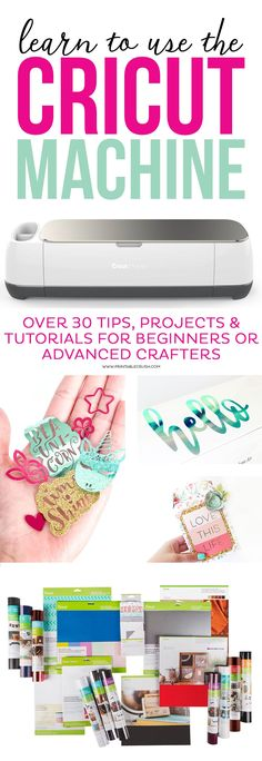 Sewing For Beginners Learn to use the Cricut Machine with over 30 tips, projects, and tutorials for beginners or advanced crafters! - Learn to use the Cricut Machine with over 30 tips, projects, and tutorials for beginners or advanced crafters! Cricut Ideas, Cricut Tutorials, Sewing Tutorials, Cricut Project Ideas, Sewing Patterns, Cricut Explore Projects, Crochet Patterns, Cricut Craft Room, Cricut Vinyl