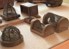 antique bee cages for queen bees, how cool~