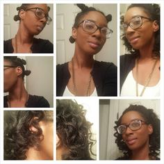 Loose bantu knot out. More of a low manipulation than a protective style but still cute!