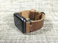 Apple Watch Band  Horween Leather Natural by ThreadedLeatherCo