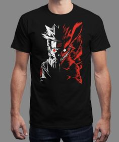 """Naruto Two Face"" is today's £8/€10/$12 tee for 24 hours only on www.Qwertee.com Pin this for a chance to win a FREE TEE this weekend. Follow us on pinterest.com/qwertee for a second! Thanks:)"