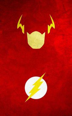 superhero minimalist posters: flash