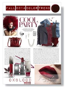 """Oxblood-New Fall 2014 Color"" by misslisa5472 ❤ liked on Polyvore featuring J.Crew, BKE Boutique, Roque Bags, 14th & Union, Elizabeth and James, Burberry, Express, RGB, oxblood and fashiontrend"