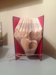 Book folding pattern for Sweetheart FREE by BookFoldingForever