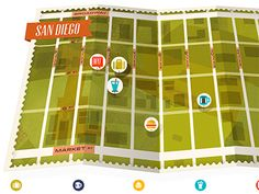 Dribbble - Little San Diego map for a magazine by kellianderson