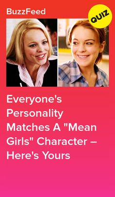 """Everyone's Personality Matches A """"Mean Girls"""" Character – Here's Yours Girl Quizzes, Fun Quizzes, Mean Girls Party, Mean Girl Quotes, Diy Crafts For Girls, Regina George, Girls Characters, It's Your Birthday, Personality"""