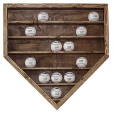 30 Baseball Display Case. $39.99, via Etsy. in walnut