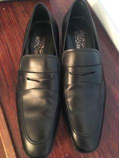 999d0e81cf3 Extra Off Coupon So Cheap Salvadore Ferregamo Rain Lux Black Men s Loafers  Driving Dress Shoes Size