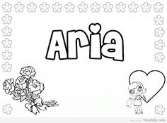 Printable Name Coloring Pages For Kids And By StevieDoodles